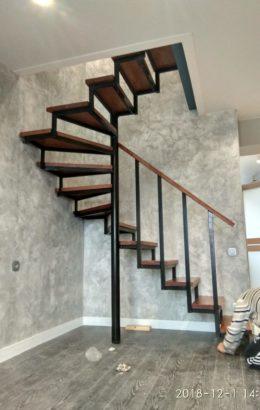 Лестницы на заказ, деревянные лестницы, обшивка металлокаркаса. Лестницы лофт.
